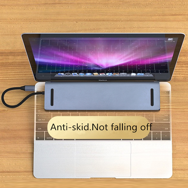 Docking station 12 in 1 USB C HUB Type c to HDMI SD/TF Card Reader RJ45 PD for Charger 3.5mm Audio for MacBook Laptop USB C HUB - 6