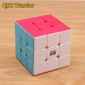 Image 2 - Qiyi warrior s cubo de magia colorido, velocidad sin pegatinas, cubo 3x3, antiestrés, 3x3x3, rompecabezas educativo, Juguetes