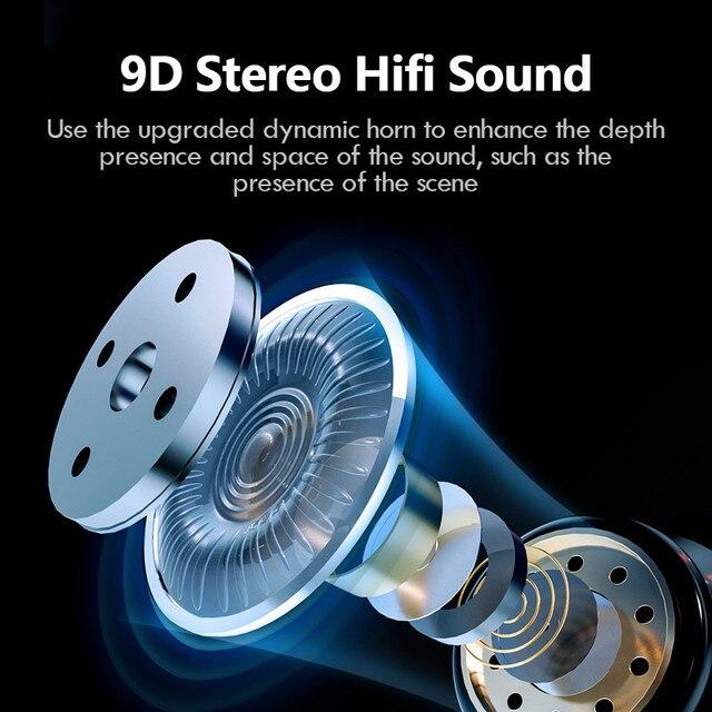 TWS Bluetooth 5.0 Earphones Waterproof Headset With Microphones Sport Earbuds 5