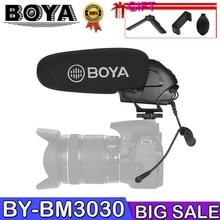 BOYA BY-BM3030 Shoutgun Microphone Camera 3.5mm Hypercardioid Video Mic Interview ENG for Canon Nikon DSLR Cameras