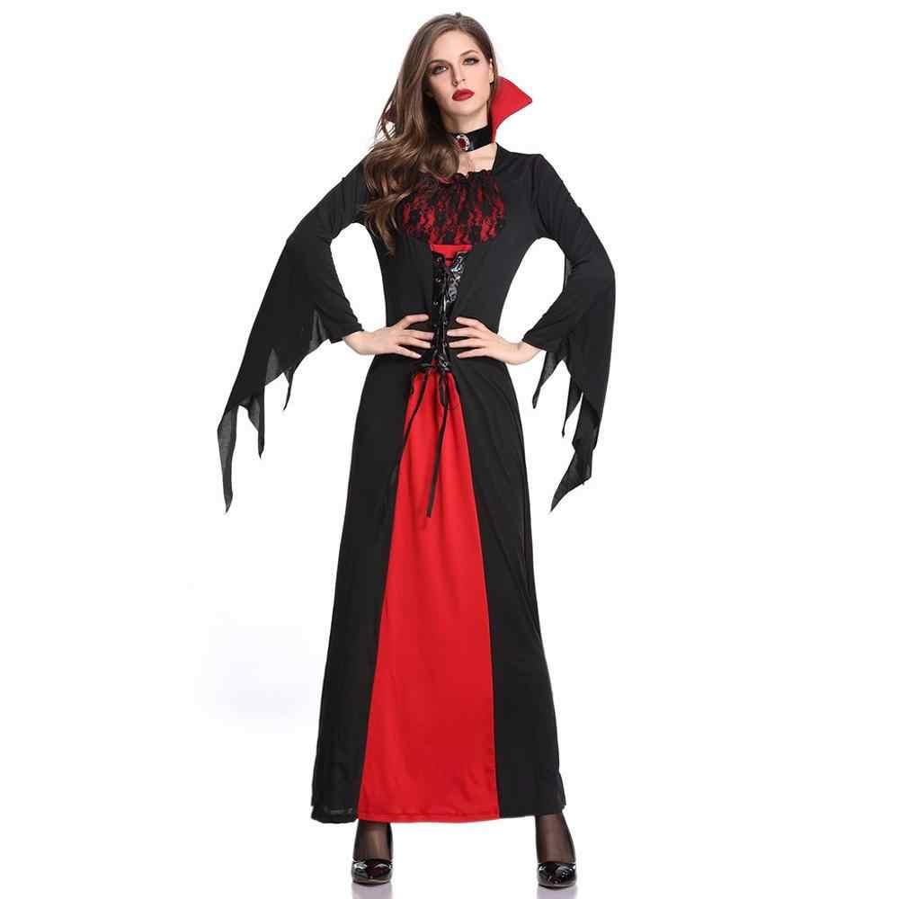 Женское Повседневное платье на Хэллоуин длинные платья королевы пасхальный