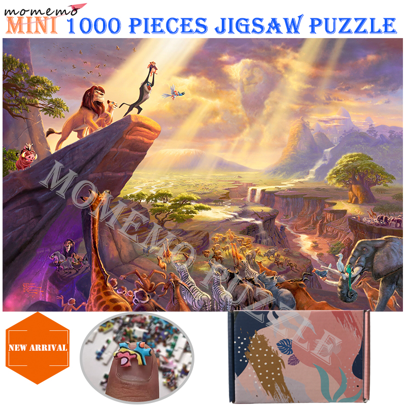 MOMEMO Cartoon Fairy Tales Wooden Jigsaw Puzzles 1000 Pieces Puzzle Adults Difficult DIY Puzzle Toy Lion King Mermaid Snow White