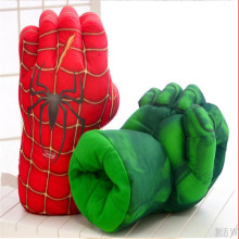 """1 пара, огромные перчатки-блокшив, разбивающие руки+ косплей Человек-паук Железный человек, мягкая плюшевая перчатка около 1"""" 26 см"""