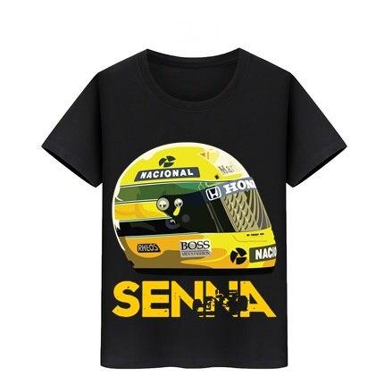 Ayrton Senna Helmet T-Shirt Baby Cotton Tshirt Boy Girl Top Tees 3-11 Year Kid Tee Shirt Children Skateboard T Shirts