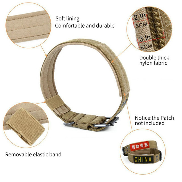 Customized Military Training Dog Collar