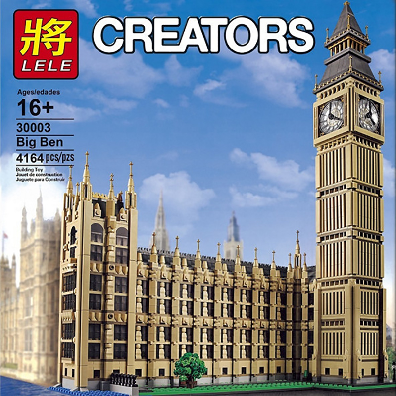 LELE 30003 Creator Big Ban Streetview Series Compatible Lepinglys 10253 Big Ben Model Architecture Building Blocks Bricks Educa