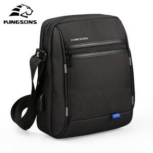 Image 3 - Kingsons сумка через плечо известного бренда Повседневная деловая сумка мессенджер винтажная сумка через плечо мужские сумки через плечо