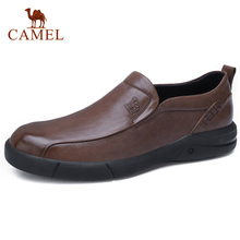CAMEL Mens Casual Shoes England Tide Big Scalp Men Loafers mens Oil Wax Soft Cowhide Business Casual Shoes Non slip