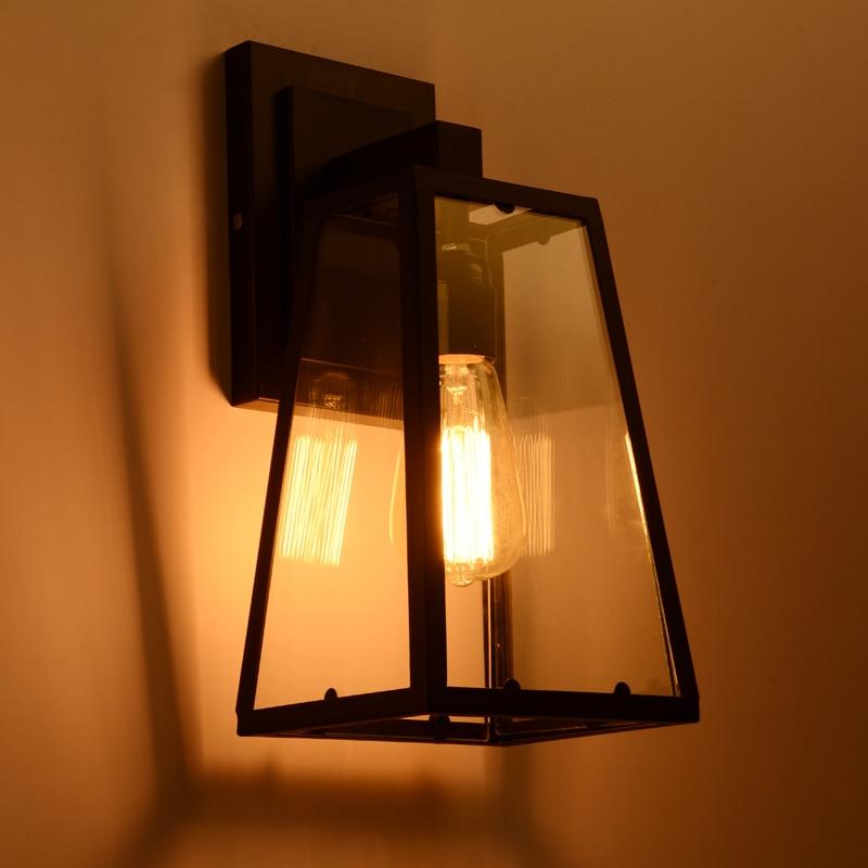 ar livre ferro preto vidro luminaria varanda 03