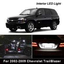 14PcsหลอดไฟLEDภายในชุดสำหรับ2002 2009 Chevrolet TrailBlazerแผนที่โดมTrunkประตูใบอนุญาตLight