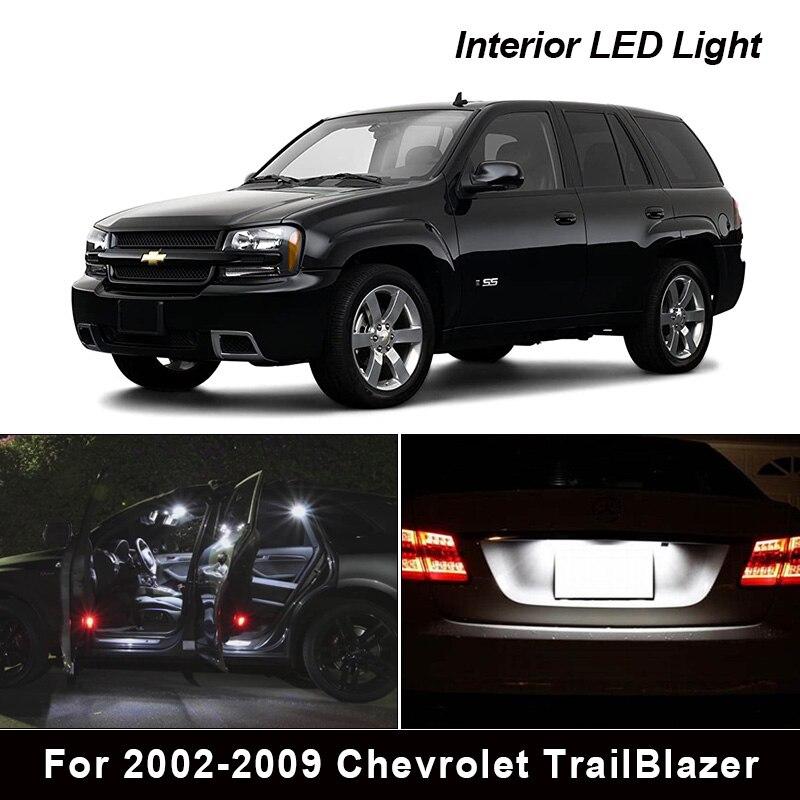 Комплект светодиодных ламп 14 шт. для салона 2002-2009 Chevrolet TrailBlazer, освесветильник для номерного знака двери багажника