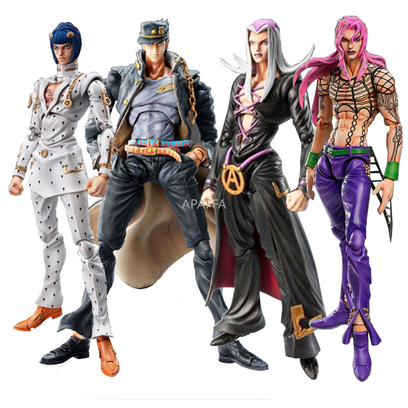 Action-Figure Bizarre Jojos Bruno Adventure Giovanna Anime Diavolo Leone Movable 15cm