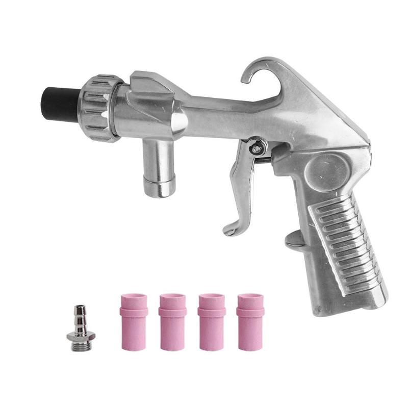 Mini Pneumatic Spray Gun Air Sandblaster Sandblasting Blast Gun Manual Multi-function Aluminum And Ceramics Spray Gun