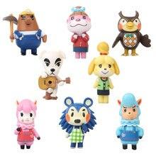 8 unids/set nuevo Animal Crossing tarjeta NFC serie de juegos, colección de figuras de acción juguetes 7cm regalo para niños