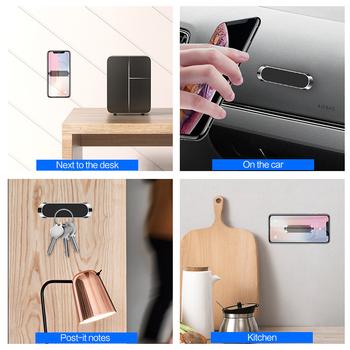 Magnetic Car Phone Holder Dashboard Mini Strip Shape Stand For iPhone Samsung Xiaomi Metal Magnet GPS Car Mount for Wall 4