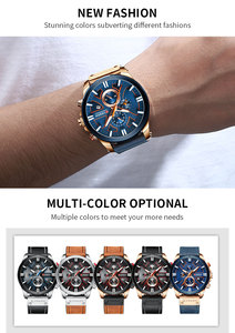 Image 5 - CURREN นาฬิกาข้อมือชายกันน้ำ Chronograph กีฬานาฬิกาผู้ชายทหารสุดหรูของแท้หนังใหม่ชายนาฬิกา 8346