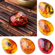 DIY Crafts Gifts 5 Color Jewellery Decorations Insects Amber Pendant Insects Pendant Resin Metal Alloy 5.5*4*2CM Necklace(China)