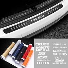 Car Rear Bumper Guard Sticker for Chevrolet Cruze Lacetti Captiva SS Z71 Equinox Trax Impala Camaro Sonic Spark Sail Aveo Malibu