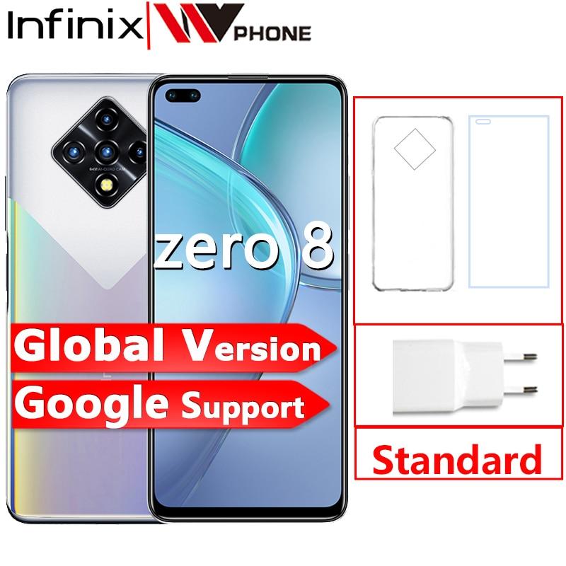 Infinix Zero 8 8GB 128GB Smart Phone New Global Version 6.85'' 90Hz Full Screen 64MP Quad Camera 4500mAh Battery 33W Charger 1