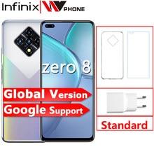 Infinix zero 8 8gb 128gb telefone inteligente nova versão global 6.85 90 90hz tela cheia 64mp quad câmera 4500mah bateria 33w carregador