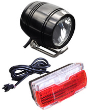 Onature e bike light set with aluminum ebike front and Ebike tail both 12V 24V 36V 48V 60V LED electric lights