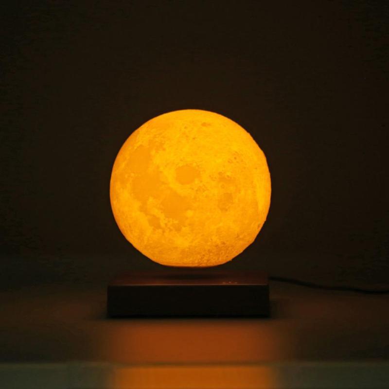 3D принт магнитная левитация светодиодный светильник s креативная спальня Луна ночные лампы украшение подарок на день рождения сенсорный ко... - 3