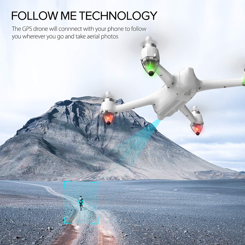 Potensic D80 GPS Drone 5G WiFi 1080P HD FPV Camera Aerial Video Wide Angle Optical Flow RC Quadcopter Aircraft Helicopter Drone (White)
