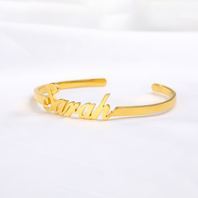New to Women's Custom Bracelet Personality Adjustable Bracelet Stainless Steel Gold Ornament Christmas Gift Armband BFF