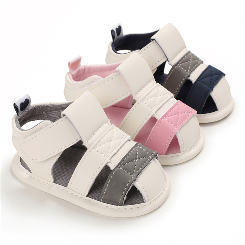 0-18M Summer Baby Boys Girls PU Leather Soft Sandal Moccasins Shoes Casual Cotton Bottom Anti-Slip Sandals
