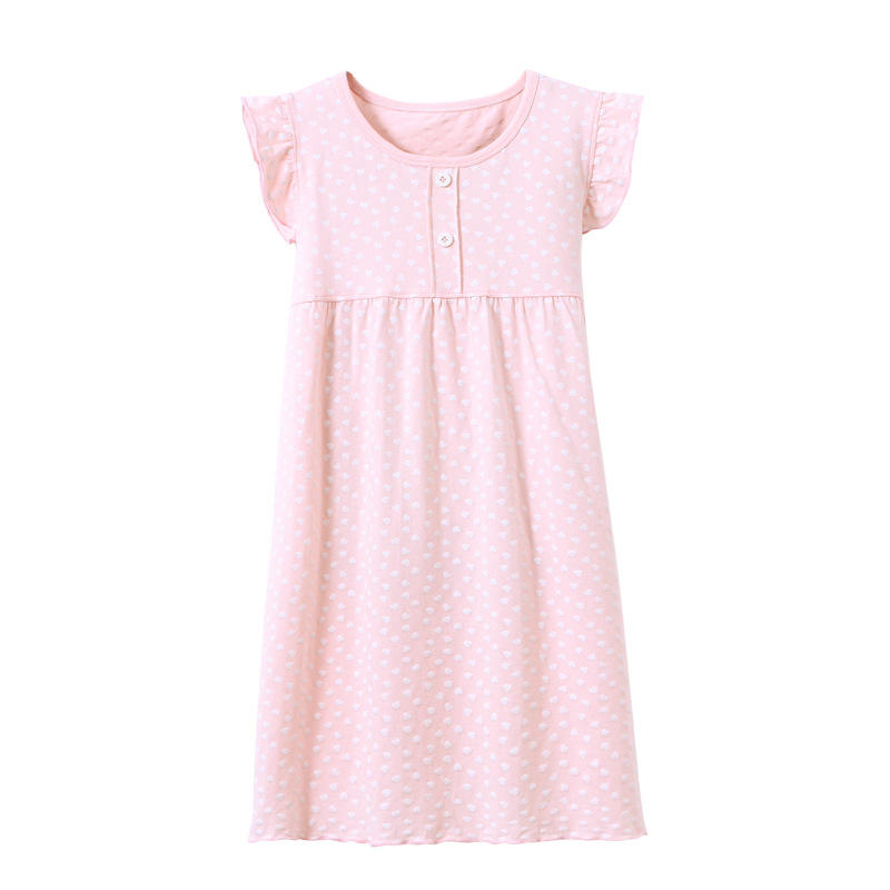 A Class Children's Home Wear Cotton Full Printed Girls Airable Clothes 18 Summer New Style Big Boy Nightdress
