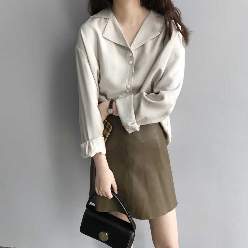 GOPLUS femmes Jupe cuir polyuréthane a-ligne jupes hiver taille haute noir vert Mini Jupe Falda Mujer Spodnica Jupe Crayon C9660