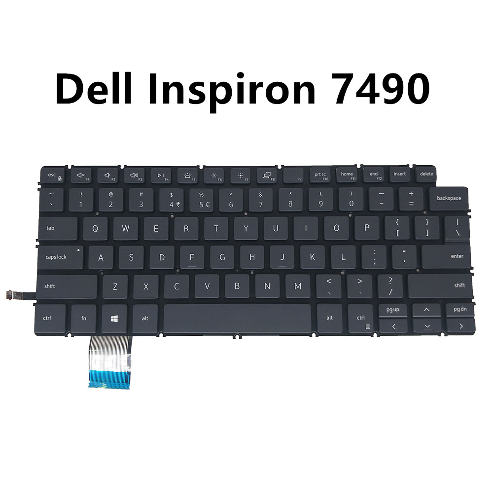 Backlit laptop keyboard for <font><b>Dell</b></font> <font><b>7490</b></font>/7400/7530/7530 UI US UK black backlight 08GH4P 02PYG9 0KRG22 0266YW 0YNH16 0C8WV6 04J7RW image