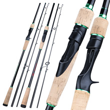 Sougayilang New 3 Sections Portable Fishing Rod 1.8 2.4M Carbon UltraLight Spinning /Casting Fishing Pole EVA Handle Tackle