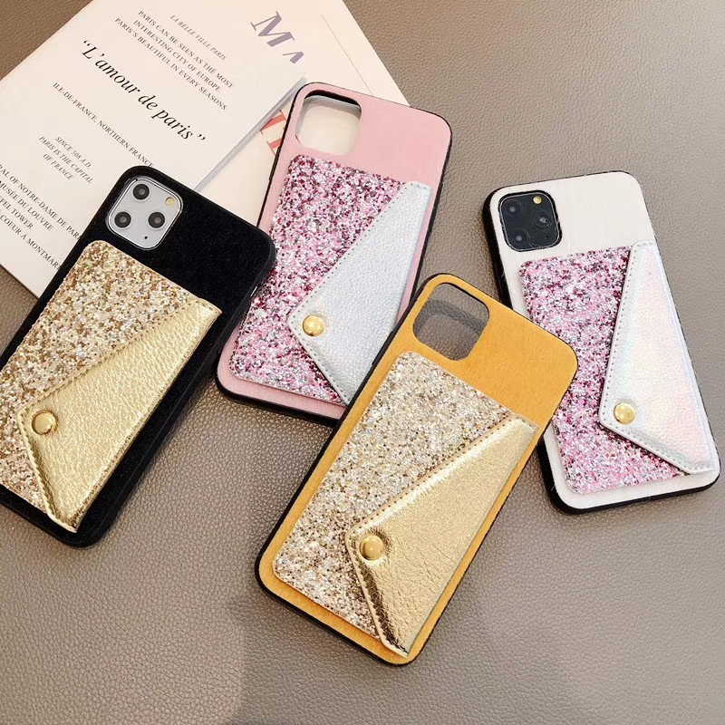 For Samsung J4 J6 J8 2018 A5 A6 A7 2018 M10 M20 M30 DIY Leather wallet Card Holder Phone Case TPU Winter Fur Blingbling Cover image