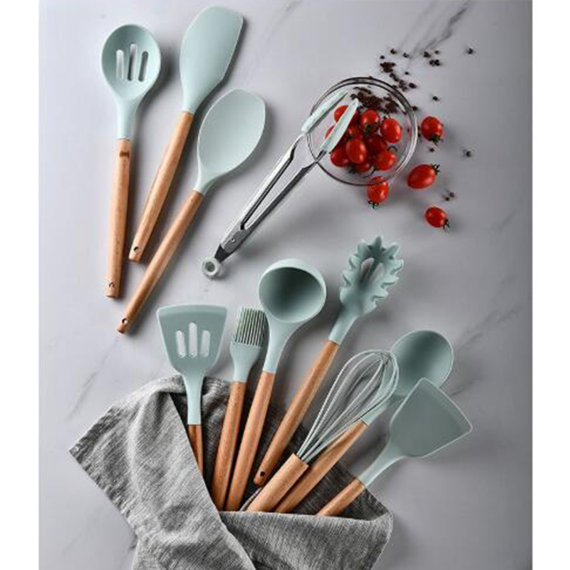 12pc-Silicone-Cooking-Tools-Set-Spatula-Shovel-Spoon-With-Wooden-Handle-Kitchenware-Practical-Kitchen-Cooking-Utensils