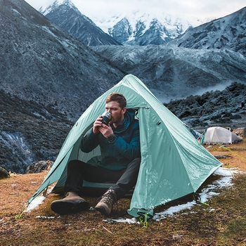 Naturehike New 2 Person Ultralight Professional Camping Tent 20D Silicone Windproof Outdoor Hiking Backpacking Tent Free Mat 6