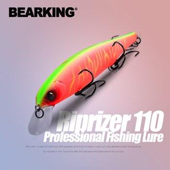 BEARKING Best price Riprizer 110 jerking bait 11cm 15g dive 1.5m Wobblers Carp Fishing Lures Artificial Baits tackles