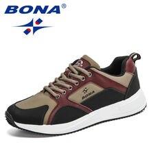 Кроссовки bona Мужские дышащие удобная Уличная обувь для прогулок