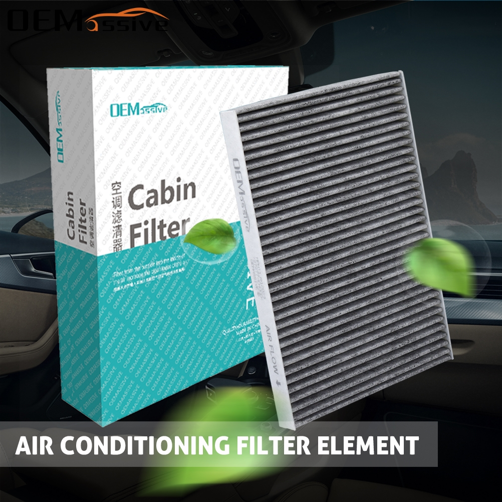 2x Car Accessories Pollen Cabin Air Conditioning Filter Includes Activated Carbon For C-Max 2 Escape Kuga Focus 3 Transit Connect V40 CV6Z-19N619-A AV6N-19G244-AA