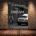 Детский постер с автомобилем, Картина на холсте с принтом, настенное искусство, украшение для дома, Вдохновляющие Слова, картина для гостино...