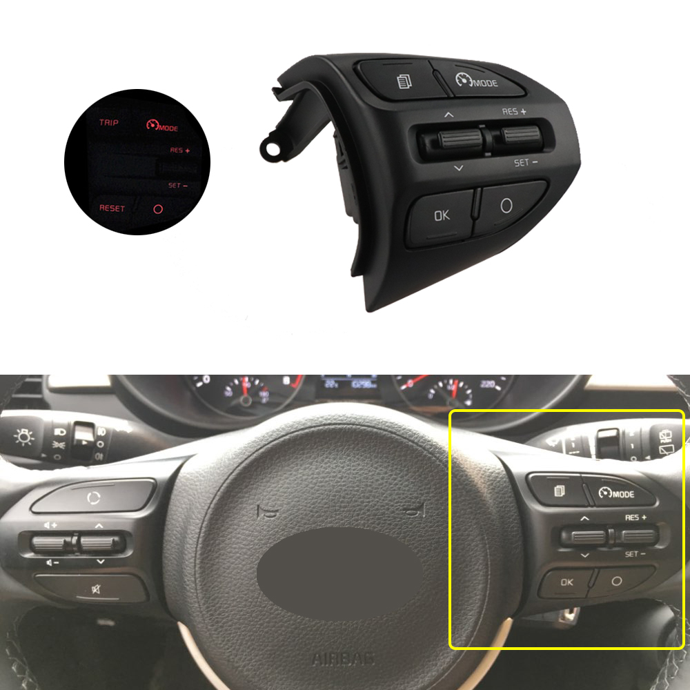 Steering wheel for Kia RIO K2 X-LINE 2017 2018 2019 RIO 4 Steering Remote Cruise Control Switch Button Bluetooth Phone Volume image