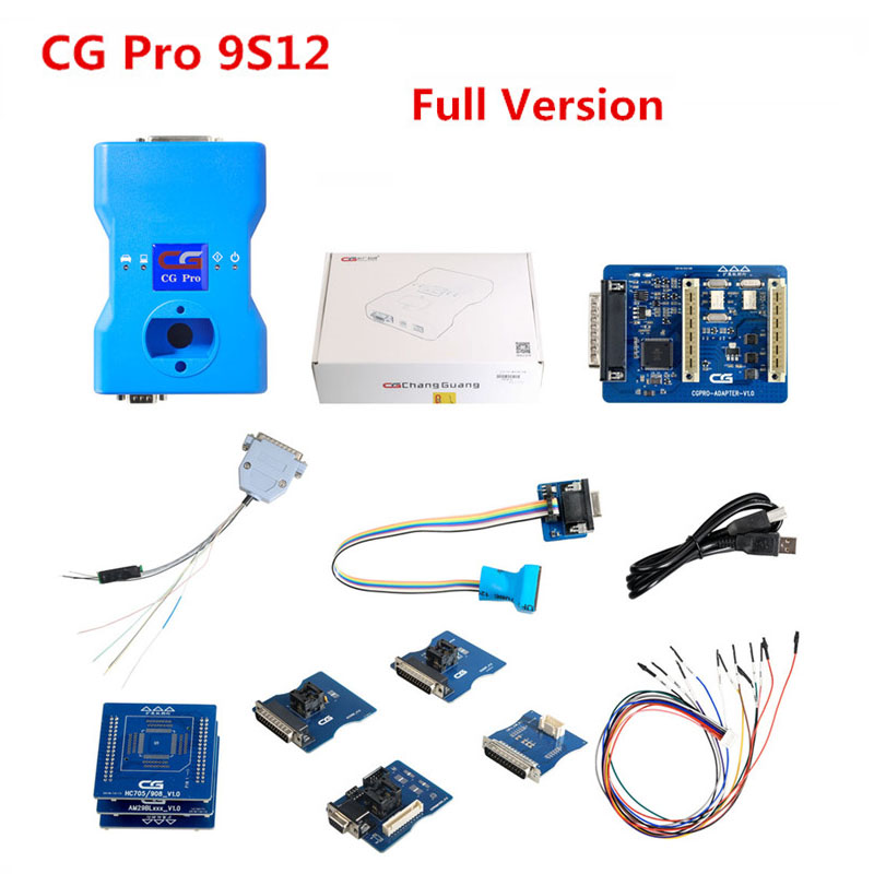 CGDI CG Pro 9S12 Programmer Full Version with All Adapters including New CAS4 DB25 Adapter For BMW
