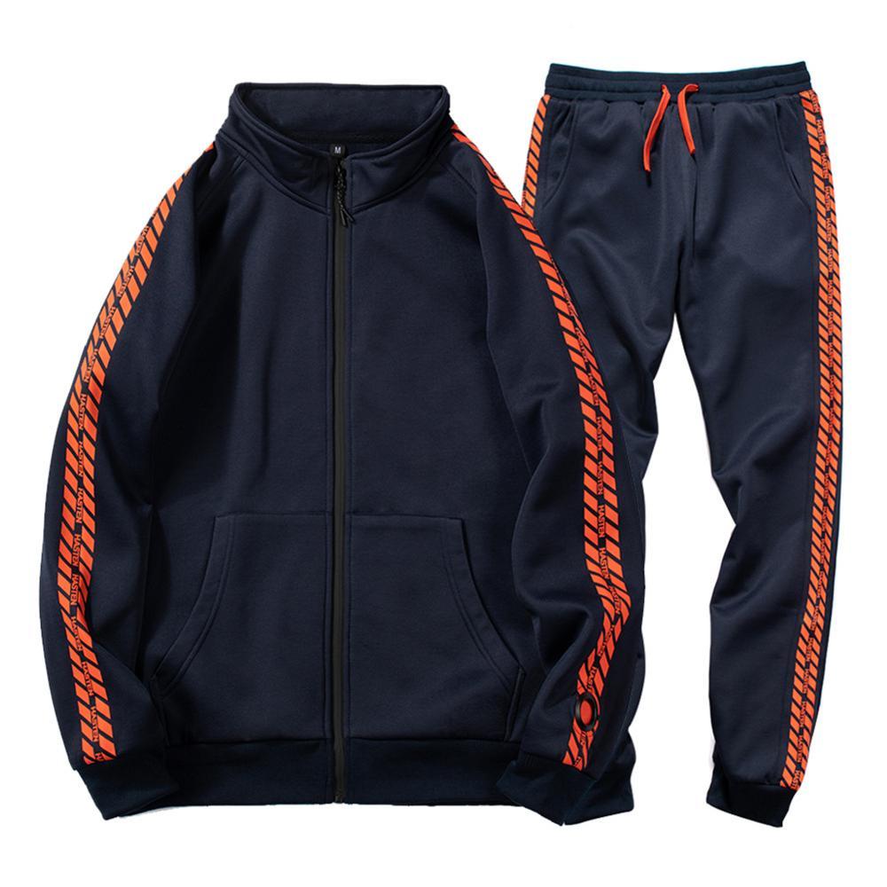 New Men Sets Fashion Autumn Print Spring Sporting Suit Sweatshirt +Sweatpants Male Clothing 2 Pieces Sets Slim Tracksuit Man