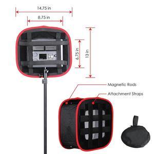 Image 4 - Studio Softbox Diffuser Voor Yongnuo YN600L Ii YN900 YN300 YN300 Iii Air Led Video Light Panel Opvouwbaar Soft Filter
