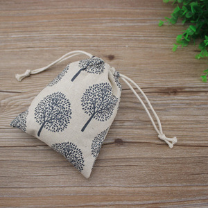 Image 5 - Happy Tree Linen Jewelry Drawstring Pouch 8x10cm 9x12cm 10x15cm 13x17cm Party Candy Jute Gift Packaging Bag