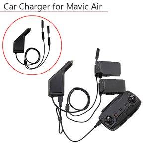 Image 1 - 3 דרכים מטען לרכב סוללה מרחוק בקר עם USB טעינת נמל Drone משדר לdji Mavic אוויר אבזרים