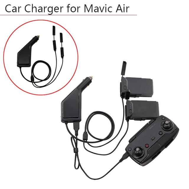 3 דרכים מטען לרכב סוללה מרחוק בקר עם USB טעינת נמל Drone משדר לdji Mavic אוויר אבזרים