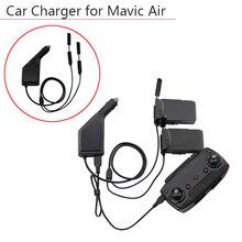 3 maneiras carregador de carro bateria controle remoto com porta carregamento usb zangão transmissor para dji mavic acessórios ar