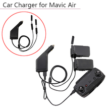 3 стороннее автомобильное зарядное устройство, пульт дистанционного управления с usb портом для зарядки, передатчик дрона для DJI Mavic Air, аксессуары