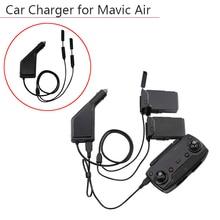 Cargador remoto de 3 vías para coche, mando a distancia de batería con puerto de carga USB, transmisor de Dron para DJI Mavic Air Accesorios